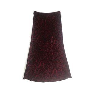 Anine Bing Skirts - Anine Bing Bar Silk Skirt - Red Leo